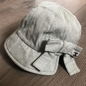 Chanel hat with big bow